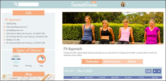 SweatGuru studio profile