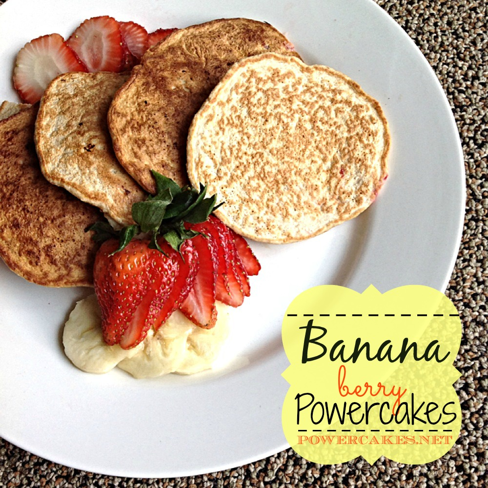 BANANA BERRY POWERCAKES