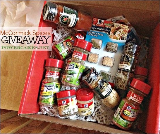 MCCORMICK SPICES GIVEAWAY