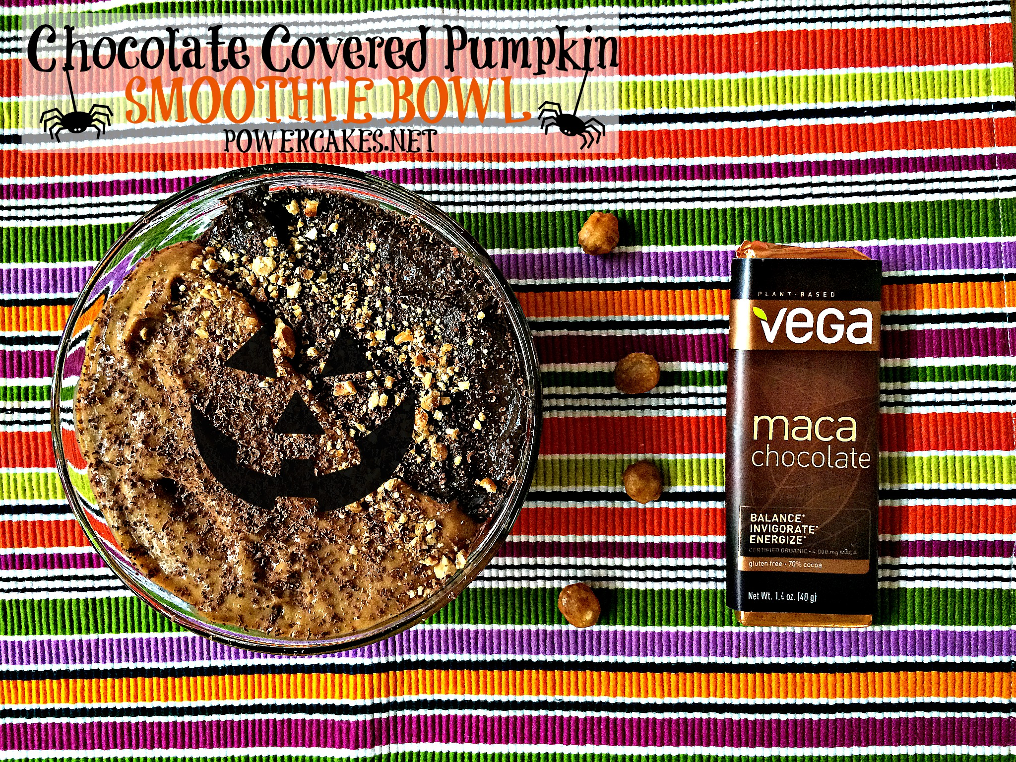 VEGA Halloween Smoothie Bowl Powercakes