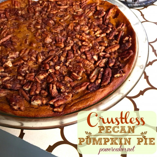 crustless pecan pumpkin pie